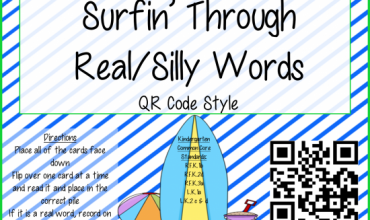 Real and Silly Word Sort Activity {with QR Codes}