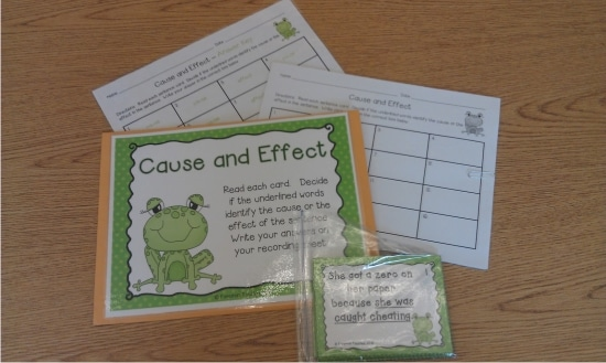 Teach Junkie: 12 Easy Cause and Effect Activities and Worksheets - Cause and Effect Scoot Activity