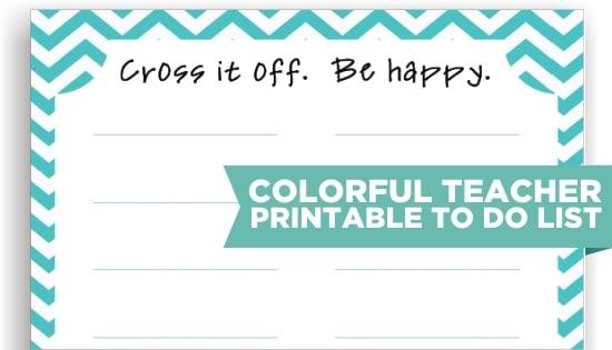 Teach Junkie: 8 Cute Teacher Printable To Do Lists
