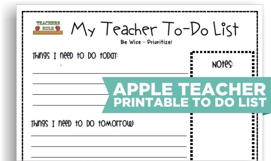 8 Cute Teacher Printable To Do Lists Teach Junkie – Things to Do Checklist Template