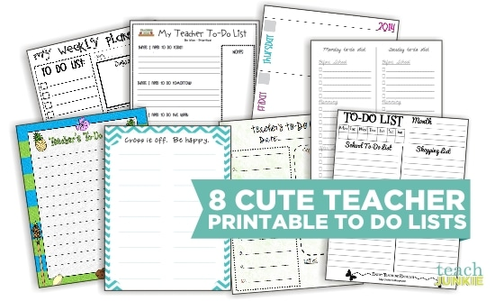 8 Cute Teacher Printable To Do Lists Teach Junkie – Editable to Do List Template