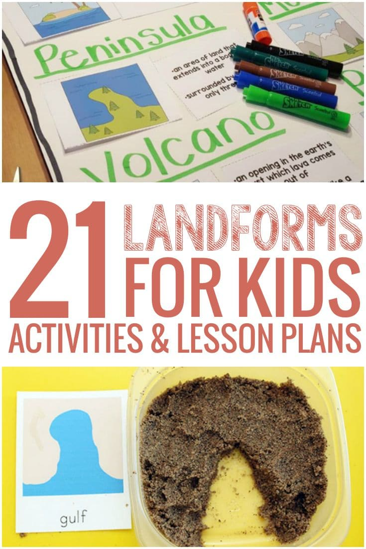 21 Landforms for Kids Activities and Lesson Plans - My class would love these ideas