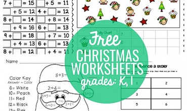 23 Festive Christmas Worksheets for K & 1st