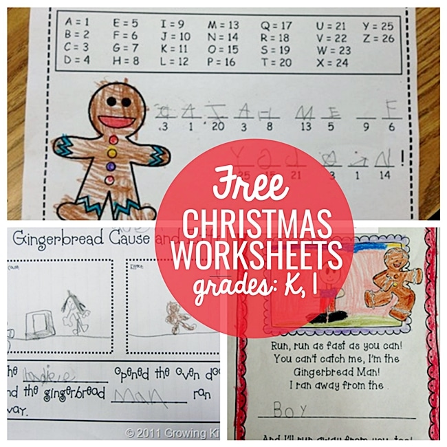 23 Funky Christmas Worksheets for Kindergarten and 1st