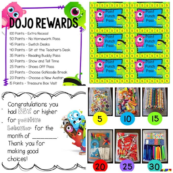 27 amazing class dojo printables and ideas class dojo rewards teach junkie