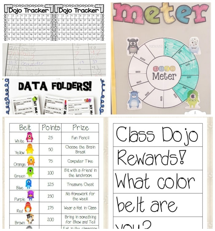27 amazing class dojo printables and ideas tracking class dojo points teach junkie