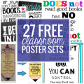 27 Classroom Poster Sets - Free and Fantastic