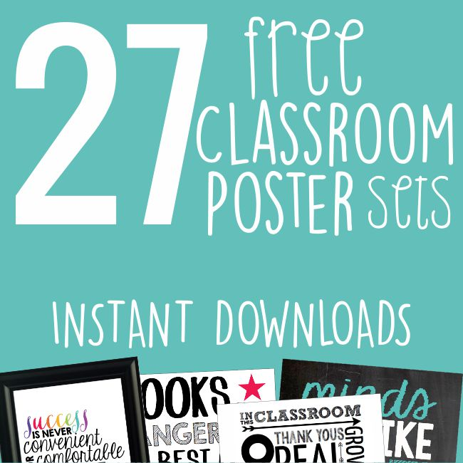 27 classroom posters free