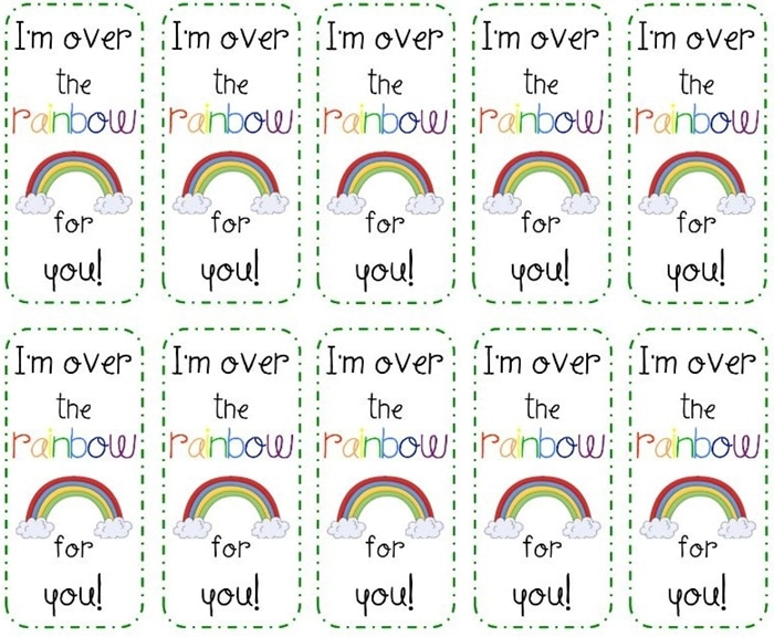 3 Adorable and Free St. Patrick's Day Tags Printables - treat toppers for licorice or skittles