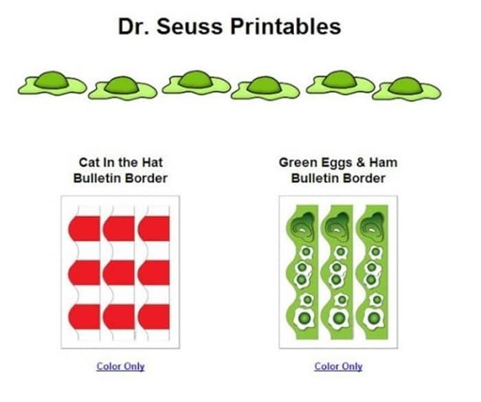 31 Ideas for Read Across America and Dr. Seuss - Dr. Seuss Printables