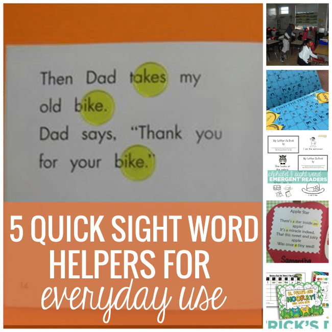 5 Quick Sight Word Helpers for Everyday Use - Teach Junkie
