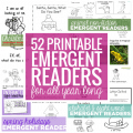 52 Printable Emergent Readers for All Year Long