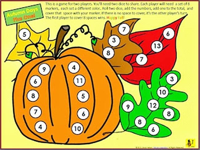 54 Fantastic Fall Thanksgiving Freebie - Adding One Autumn Days - Teach Junkie