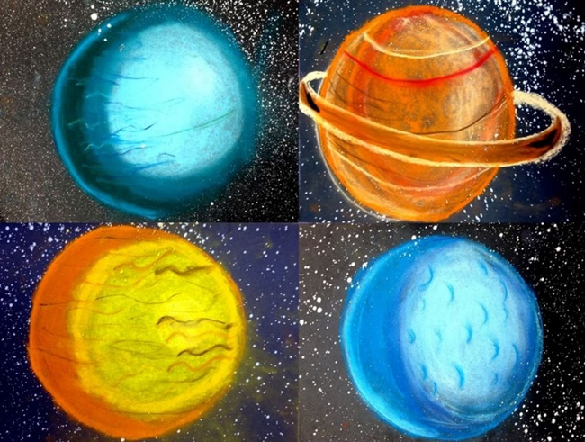 5th Grade Chalk Planets - Teach Junkie