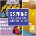 6 Spring ELA Word Work Activities