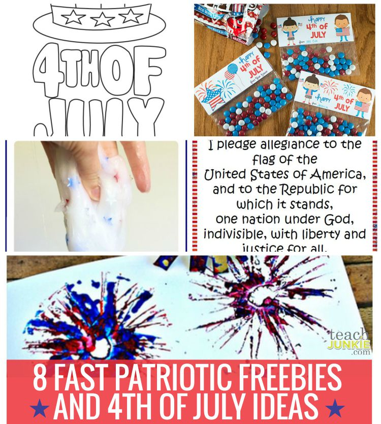 8 Fast Patriotic Freebies and 4th of July Ideas