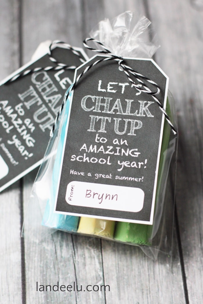 9 Excellent End of the Year Gifts for $1 - Sidewalk Chalk - Teach Junkie