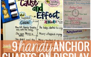 9 Handy Anchor Charts on Display - Teach Junkie