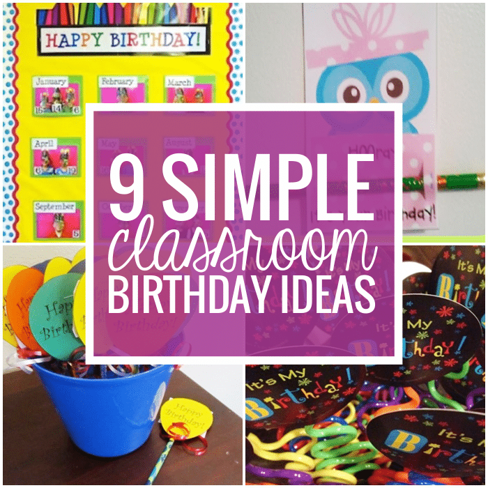 Classroom Greeting Ideas ~ Simple birthday celebrations and classroom