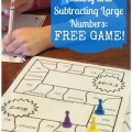 Free Add Subtract Large Numbers Game Board - Teach Junkie