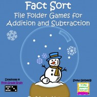 Addition and Subtraction Fact Sort {Snow Globes}