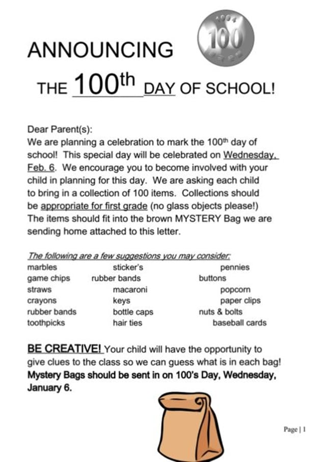 45 Best 100th Day of School Resources - Announcing the One Hundredth Day - Teach Junkie