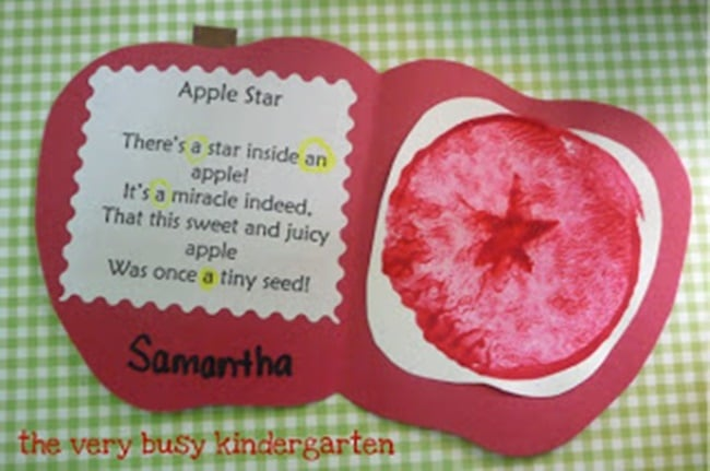 22 Apple-licious Classroom Activities and Freebies - Teach Junkie - Apple Card Poem