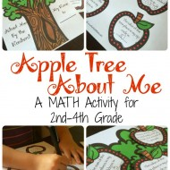 Apple Tree About Me Math Activity