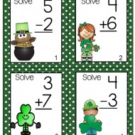 Teaching Addition – March Task Cards