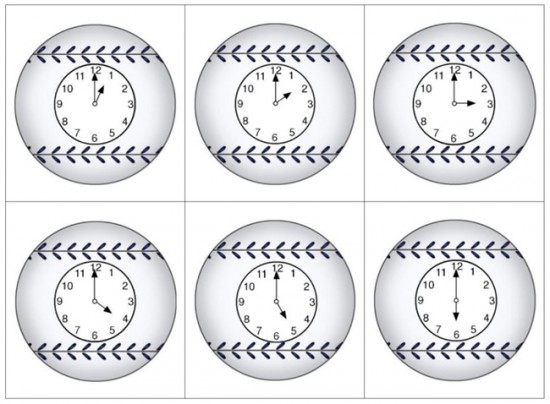 18 Telling Time To The Hour Resources - Batters up - Teach Junkie