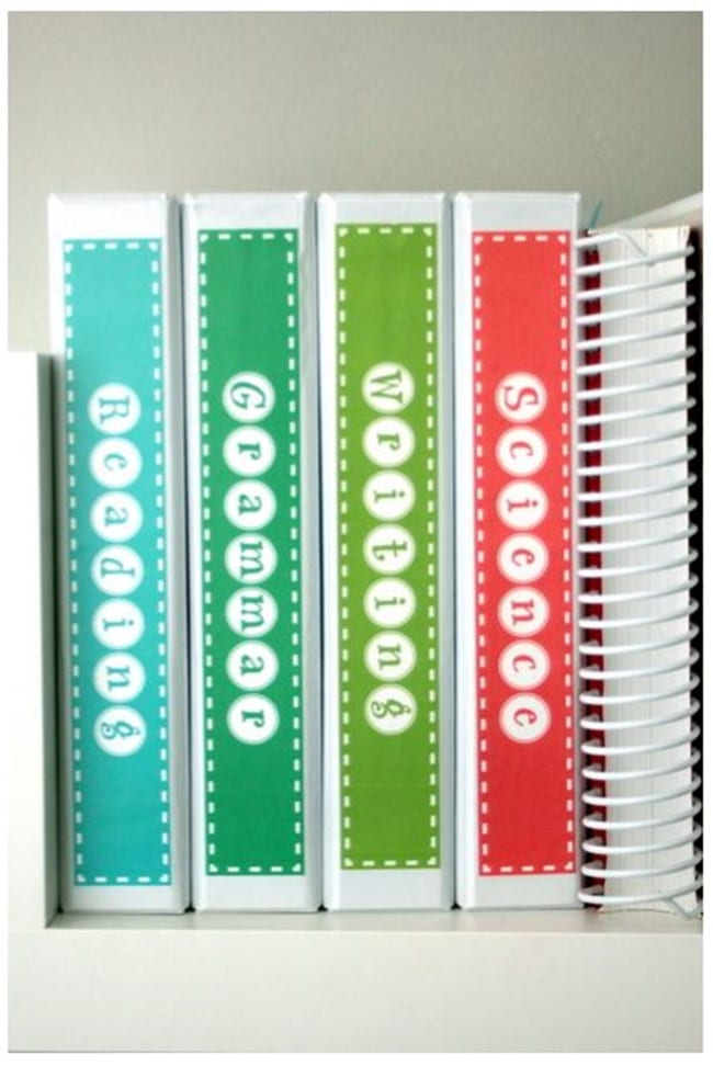 notebook spine insert templates