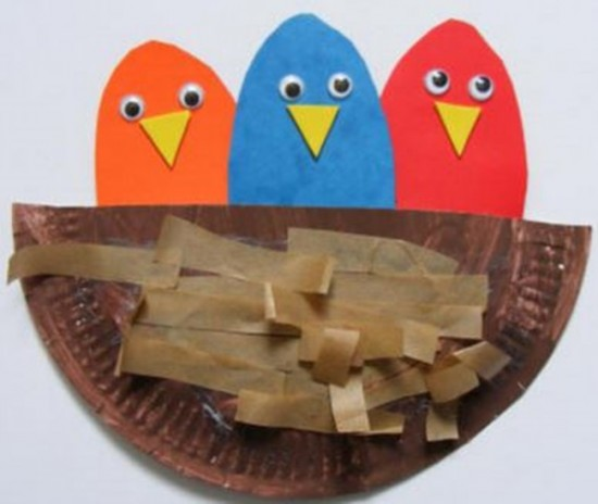 Spring Themed Crafts DIY Birds Nest