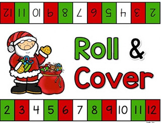 Christmas Roll and Cover Game {Free Printable}