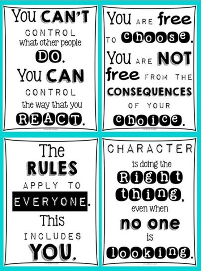 Classroom Attitude Posters - Collection Free Classroom Posters - Teach Junkie