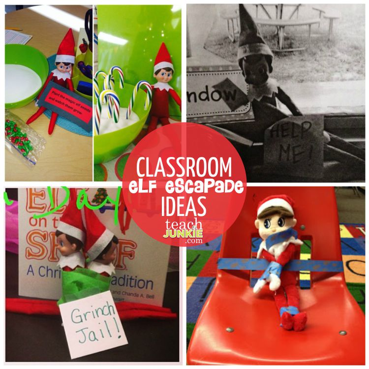 Classroom Elf Ideas ~ Elf on the shelf classroom escapades and resources
