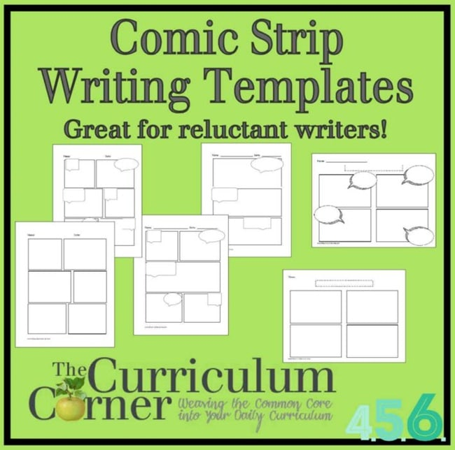 Ways To Use A Comic Strip Writing Template  Teach Junkie