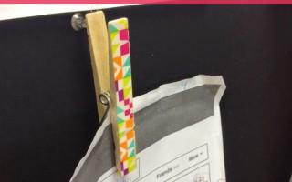 DIY Adorable Washi Tape Clothespins - Teach Junkie