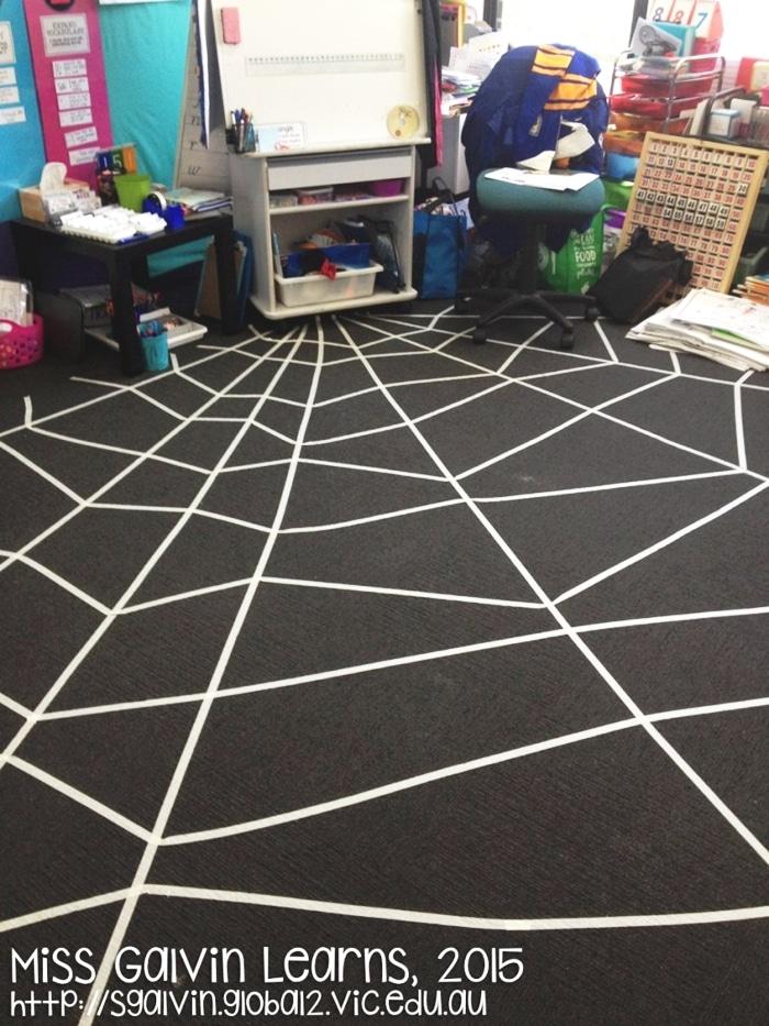 DIY Spider Web Rug for Halloween