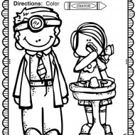 Dental Health Month Coloring Page