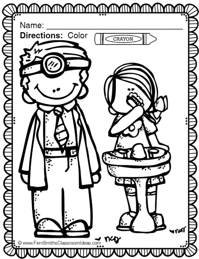Dental Health Month Coloring Page - Teach Junkie