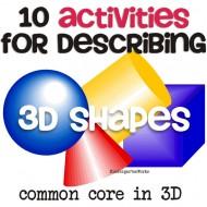 10 Describing 3D Shapes {Instant Downloads}