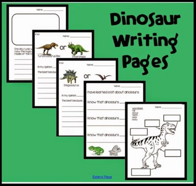 Essay writing about dinosaurs