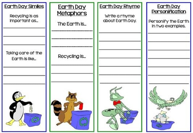 10 Teacher Friendly Earth Day Go-To Activities - Earth Day Bookmarks - Teach Junkie