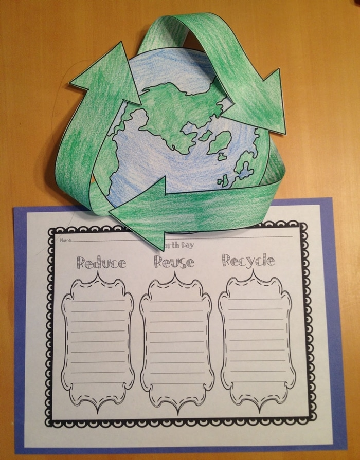 Earth Day Free Craft: Reduce, Reuse, Recycle