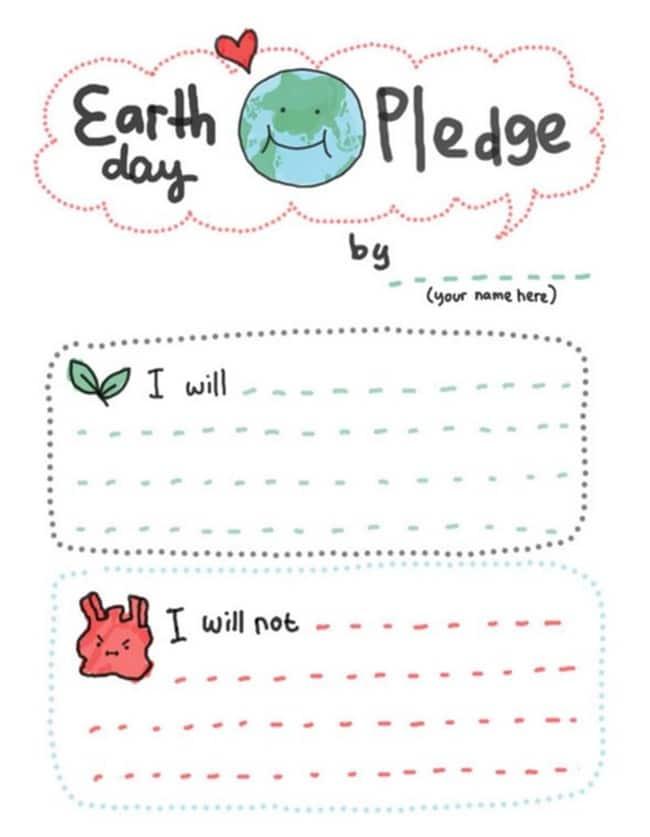 10 Teacher Friendly Earth Day Go-To Activities - Earth Day Pledge - Teach Junkie