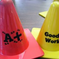 Easy Dollar Tree Cone Reward System for Reluctant Students