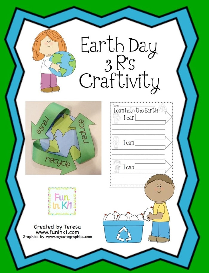 7 Classroom Ready Free Earth Day Activities - Easy Recycling Earth Day Craft - Teach Junkie