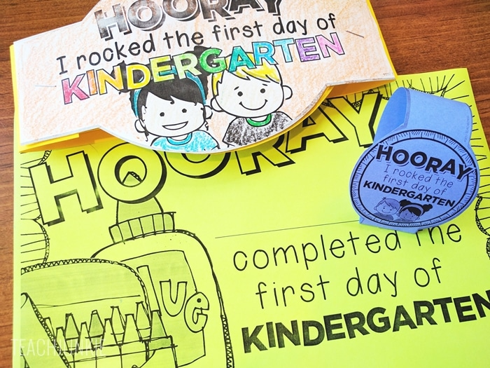 Editable First Day of School Certificates for kindergarten - free