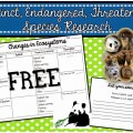 Research Project Organizer: Extinct, Endangered, Threatened Species - Teach Junkie