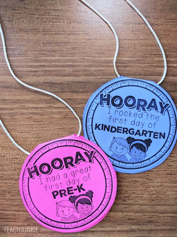 FREE Editable First Day of School Necklaces
